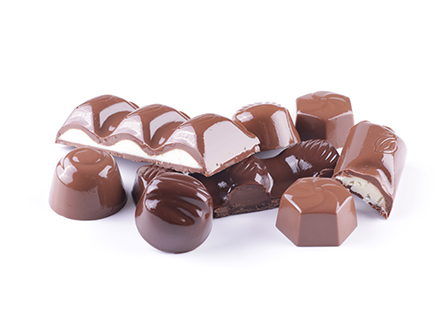 Čokoládové formované výrobky